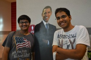Even Barack Obama came out to say hello!